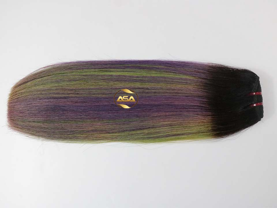 DOUBLE DRAWN WEFT  HAIR OMBER COLOR -MIX COLOR HAIR
